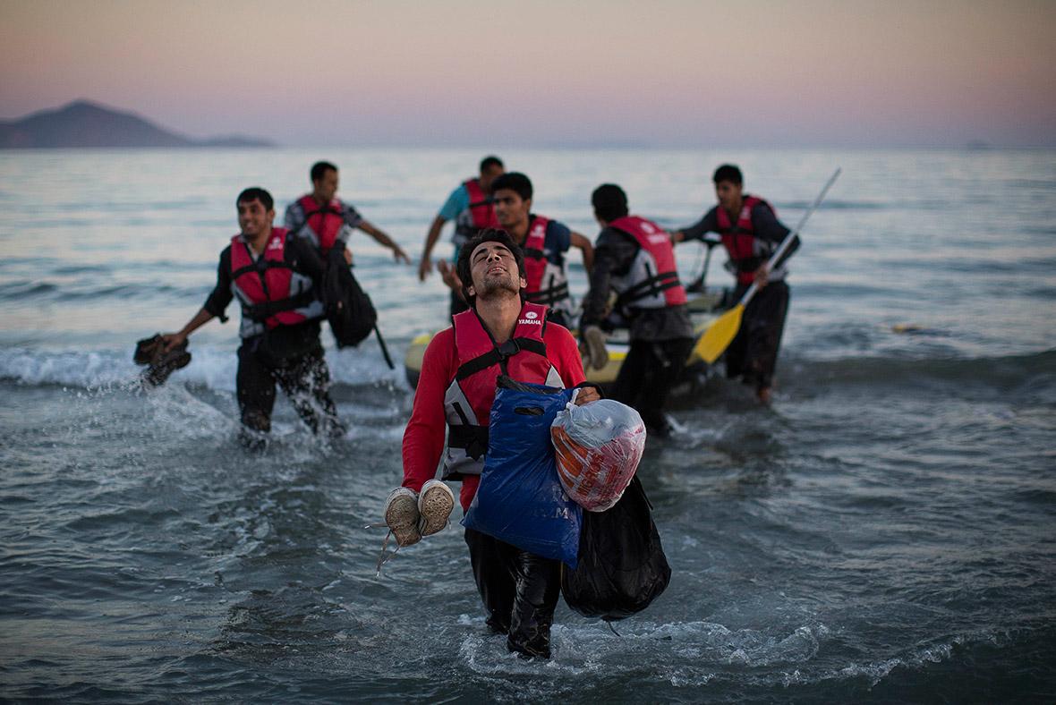 لاجئين سوريين