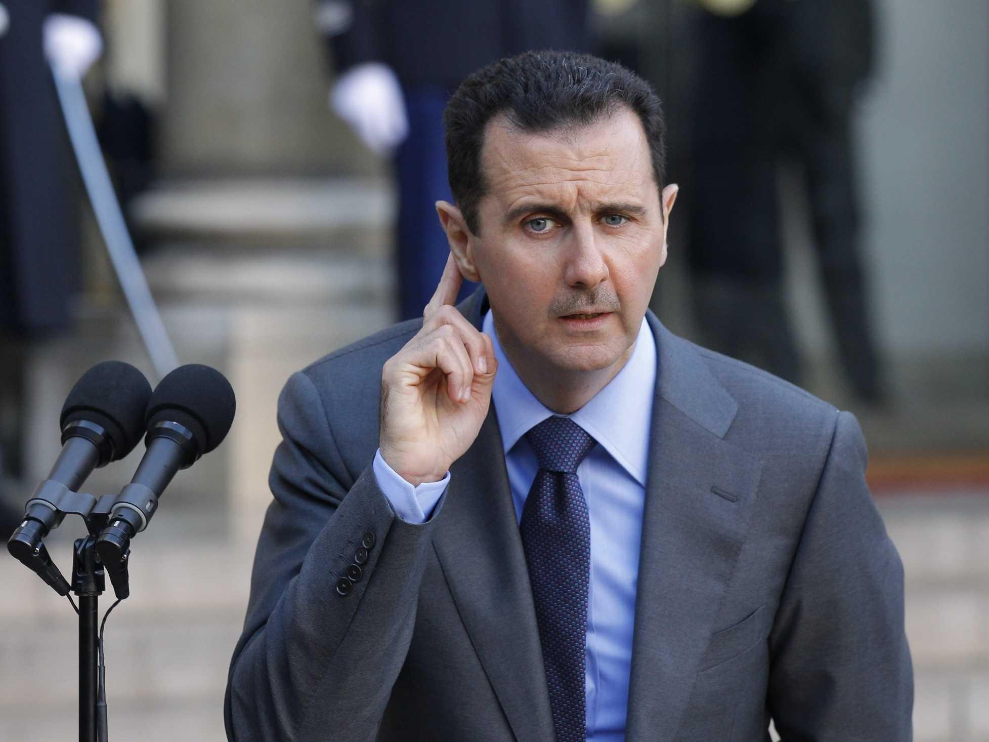 الأسد واللاجئين السوريين